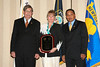 <b>IMG_43364</b><br>PFC Lance T. Guckenberger, Fairfax County Police Department (PFC Guckenberger could not attend the  ceremony, so Deputy Chief Suzanne Devlin, pictured with VACP President Chuck Bennett and Secretary John Marshall, accepted the award on his behalf.)