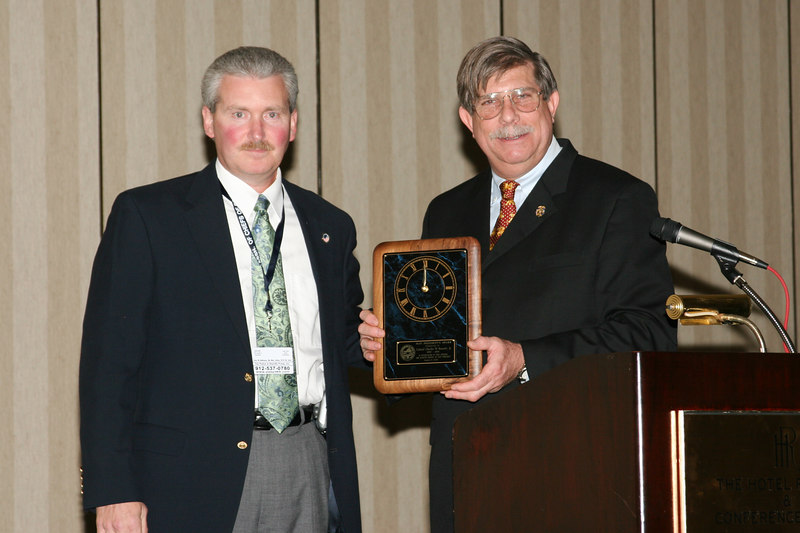 <b>IMG_43403</b><br>2006-2007 VACP President Mike Yost presents Immediate Past President Colonel Charles W. Bennett, Jr. with the Past President's Award