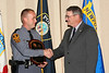 <b>IMG_43380</b><br>Colonel Steve Flaherty, Superintendent, Virginia State Police congratulates Trooper Bowers