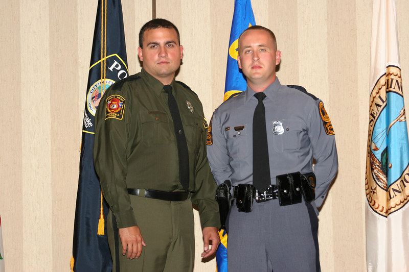 <b>IMG_43437</b><br>2006 Valor Award Recipients Officer Joseph G. Diman, Chesterfield County Police Department, and Trooper Robert S. Bowers, Jr., Virginia State Police