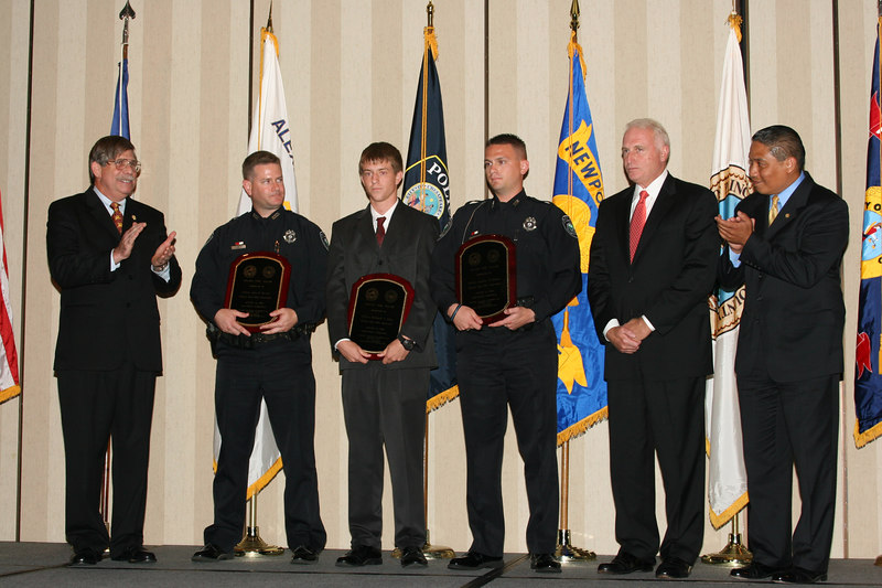 <b>IMG_43367</b><br>2006 Valor Award Recipients: Officer John D. Farrow, Officer Eddward L. Jones, and Officer Bradley N. Nielsen, Newport News Police Department
