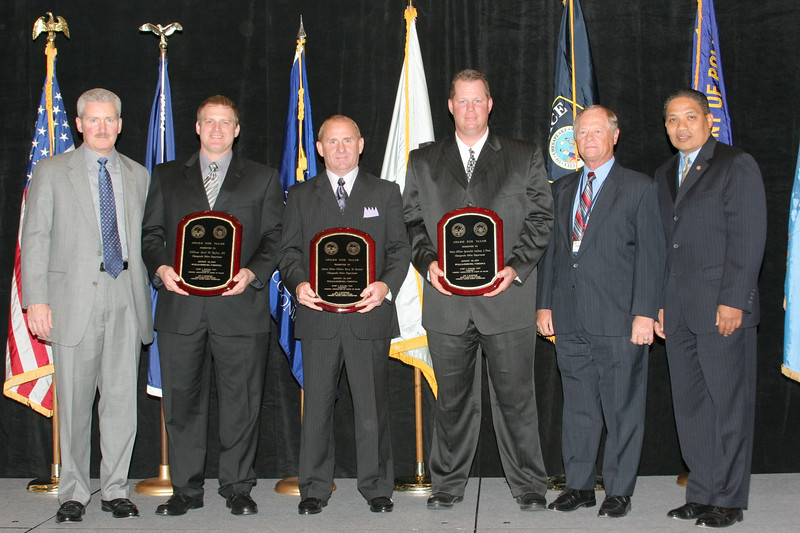 <b>IMG_70353</b><br>Officer Burl W. Taylor, III, Police Officer Specialist Anthony J. Duez, and Senior Police Officer Perry M. Bossuot, Chesapeake Police Department