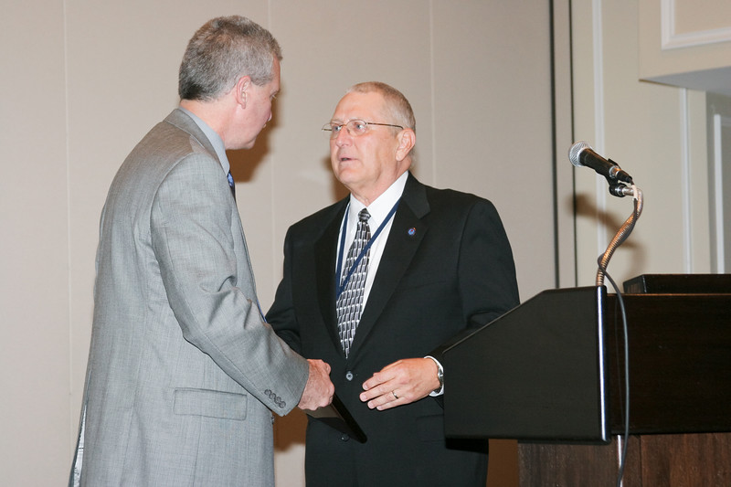 <b>IMG_70389</b><br>Mr. Lex Eckenrode, CEO of the Virginia Police Chiefs Foundation, was honored with the 2007 VACP President's Award from 2006-2007 President Chief Mike Yost (Williamsburg)