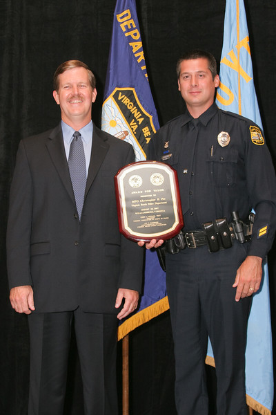 <b>IMG_70446</b><br>Virginia Beach Police Chief Jake Jacocks with his officer, MPO Christopher E. Fox, a 2007 Valor Award recipient.