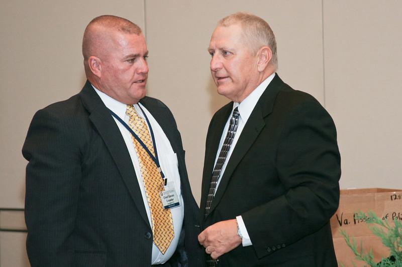 <b>IMG_70460</b><br>Mr. Lex Eckenrode, 2007 VACP President's Award recipient, and Chief Steve Crowder, Lexington PD (right)