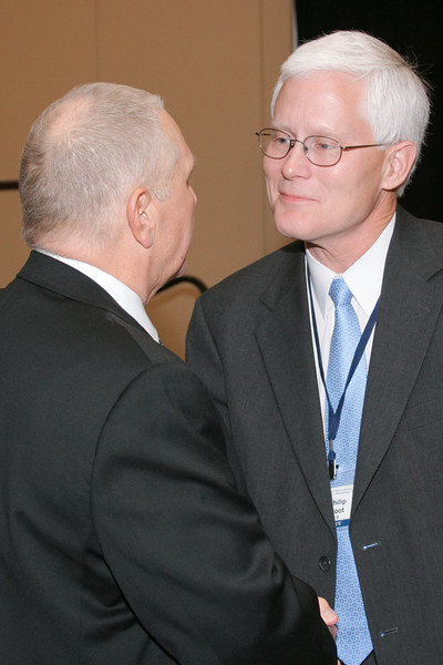 <b>IMG_70467</b><br>Chief Phil Broadfoot (Danville) congratulates 2007 VACP President's Award recipient, Mr. Lex Eckenrode