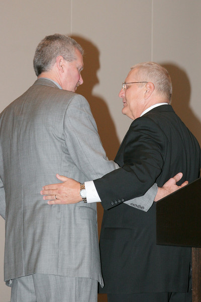 <b>IMG_70390</b><br>Mr. Lex Eckenrode, CEO of the Virginia Police Chiefs Foundation, was honored with the 2007 VACP President's Award from 2006-2007 President Chief Mike Yost (Williamsburg)