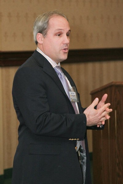"""<b>IMG_55017</b><br>Paul Colangelo from LexisNexis spoke on """"Transforming Data into Mission Critical Decisions."""""""