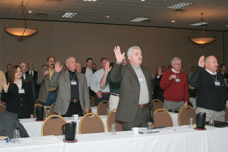 <b>IMG_54998</b><br>Conference attendees recite the Oath of Honor at the opening of every VACP Conference.