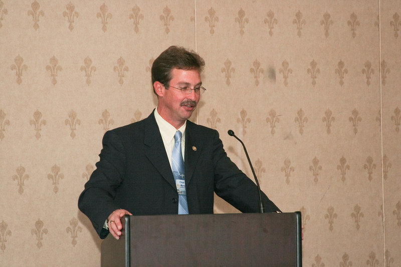<b>IMG_55029</b><br>Chief Mark Marshall spoke about a number of national issues that have an impact on law enforcement.