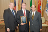____ (left), The Honorable John L. Brownlee (center) and Staunton Police Chief Jim Williams (right).