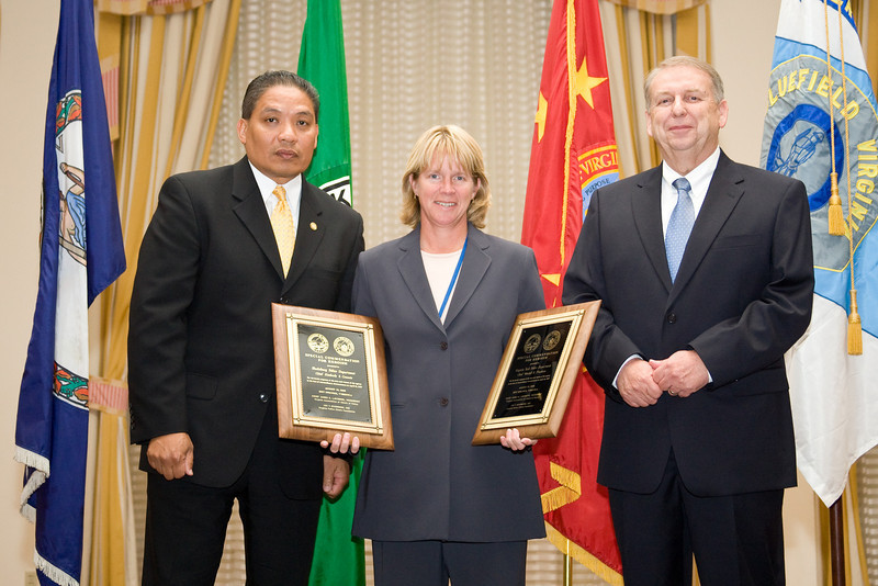 Chief Kim Crannis, Blacksburg Police Department, accepts Special Commendations for Heroism for her department and for the Virginia Tech Police Department for those agencies' actions on April 16, 2007.