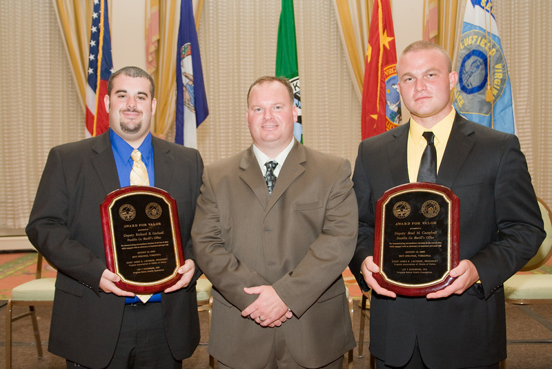 Deputy Richard B. Garland, Major Josh Carter and Deputy Brad M. Campbell, Franklin Co. Sheriff's Office.