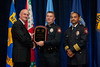 Cpl. Samuel Bray, Danville Police Department receives the 2010 VACP/VPCF Award for Valor<br /> (also pictured: 2009-10 VACP President Chief Doug Scott, Arlington County Police & Lt. Col. Dean Hairston, Danville Police)