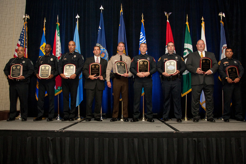 2010 VACP/VPCF Valor Award Recipients: Officer Richard Mojica, Officer Gregory I. Seaborne & Officer Joseph Torres, Newport News Police Department; Detective Matthew Hackney, Leesburg Police Department & Sgt. Chris Coderre, Loudoun County Sheriff's Office; Cpl. Samuel Bray, Danville Police Department; and Officer Scott Blystone, SWAT Medic Jeff Yates & Officer Frank Natal, Portsmouth Police Department