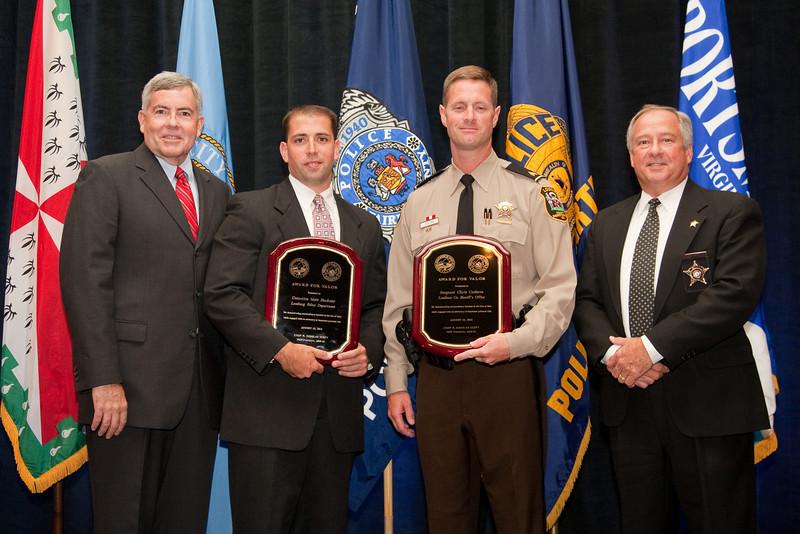Chief Joe Price and Detective Matt Hackney, Leesburg Police & Sgt. Chris Coderre and Sheriff Steve Simpson, Loudoun Co. Sheriff's Office