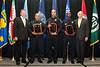 Deputy Chief Joseph Moore, Officer Richard Mojica, Officer Joseph Torres, Officer Gregory I. Seaborne, and Chief Jim Fox, Newport News Police Department