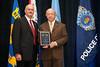 Colonel W. Gerald Massengill, Retired, Virginia State Police receives the 2010 VACP/VPCF Award for Outstanding Contribution to Law Enforcement from 2009-10 VACP President Chief Doug Scott, Arlington County Police