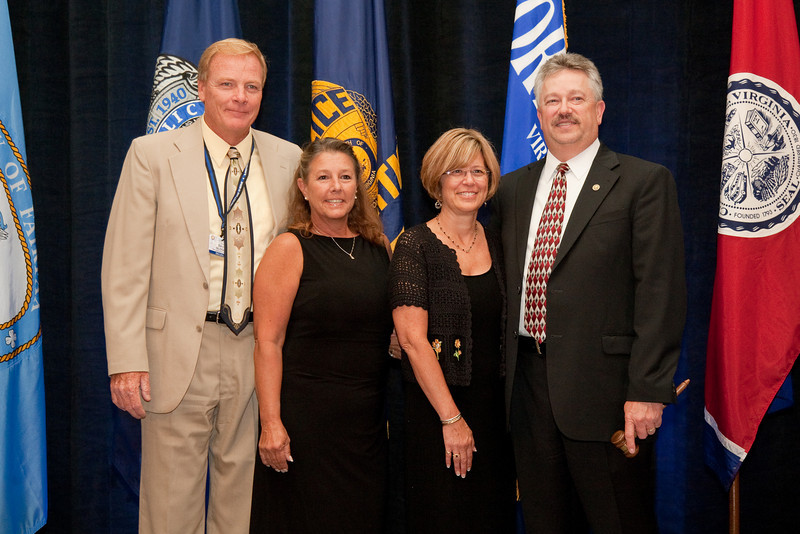 Williamsburg Police Chief Dave Sloggie and wife, Maureen & 2010-11 VACP President Chief Douglas L. Davis, Waynesboro Police and wife, Barbara