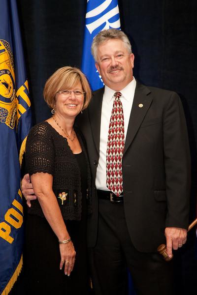 2010-11 VACP President Chief Douglas L. Davis, Waynesboro Police and wife, Barbara