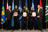 Officer Joseph Torres, Officer Gregory I. Seaborne & Officer Richard Mojica, Newport News Police Department receive the 2010 VACP/VPCF Award for Valor<br /> (also pictured: 2009-10 VACP President Chief Doug Scott, Arlington County Police and Newport News Police Chief Jim Fox)