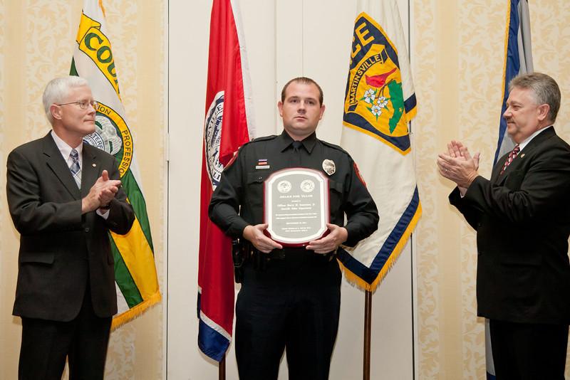 2011 VACP/VPCF Award for Valor: Officer Berry H. Sossoman, Jr.; Danville Police Department