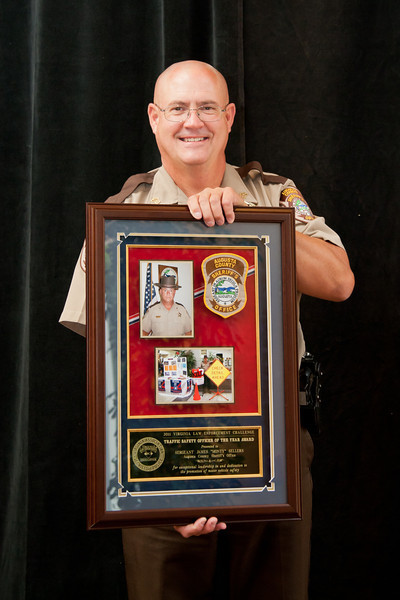 """2011 Traffic Safety Officer of the Year Award Winner:<br /> Sgt. James """"Monty"""" Sellers<br /> Augusta County Sheriff's Office"""