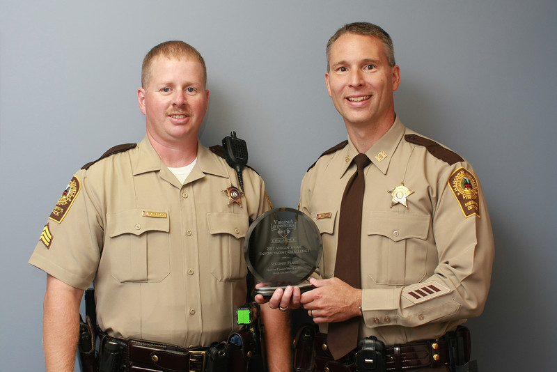 Second Place, Sheriff 6 (126-300 Deputies):<br /> Hanover County Sheriff's Office