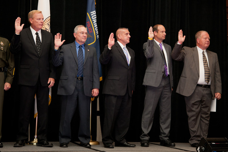 2012-13 VACP Executive Board take oath of office.