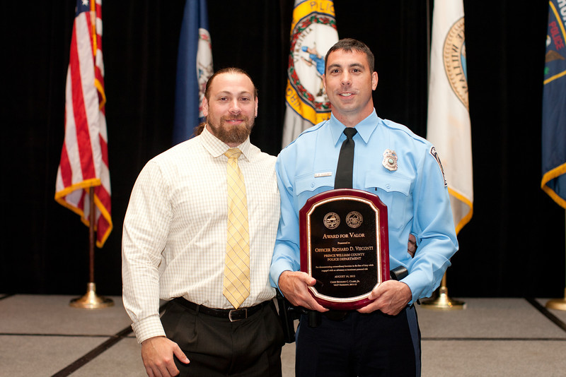 2012 VACP Award for Valor recipient, Prince William County Police Officer Richard Visconti.