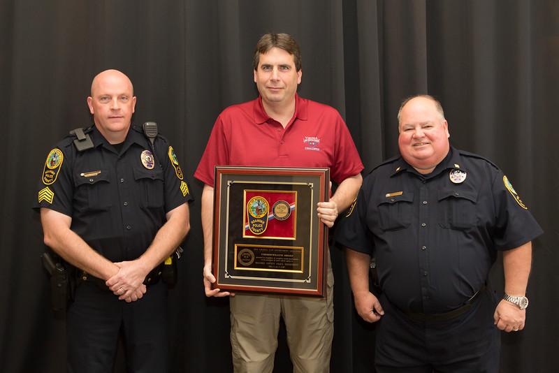 Commonwealth Award Winner for Best Traffic Safety Program in Virginia in 2013 – Roanoke County Police Department