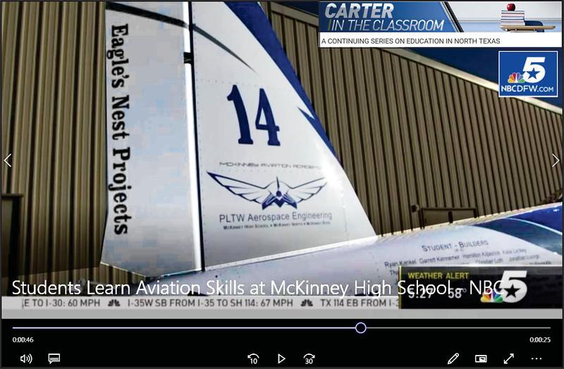 Eagle's Nest Projects - McKinney HS (TX) - NBC_DFW Ch5 Education