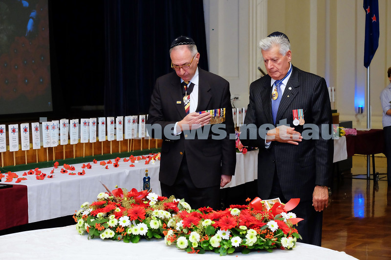26-4-15. VAJEX ceremony at Glen Eira Town Hall. ANZAC 100 years. Photo: Ren Rizzolo