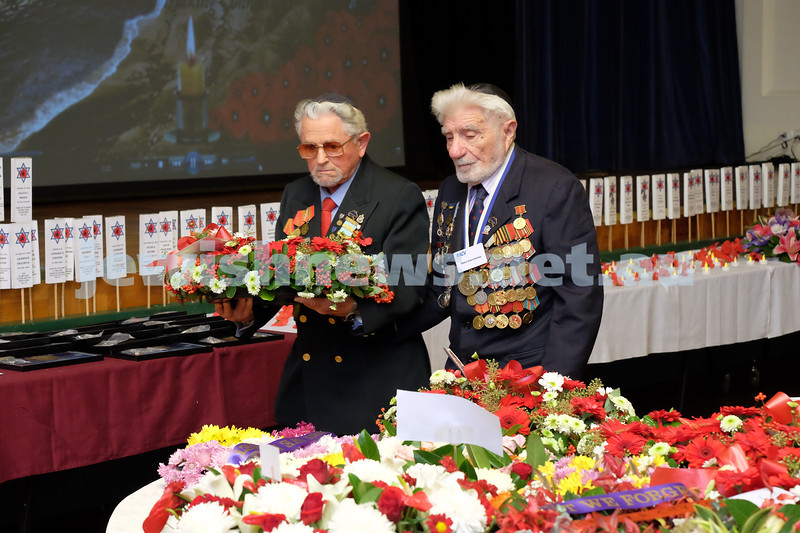 26-4-15. VAJEX ceremony at Glen Eira Town Hall. ANZAC 100 years. Photo: Ren Rizzolo