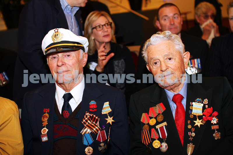 27-4-14. VAJEX. ANZAC Day memorial service at Glen Eira Town Hall. Photo: Peter Haskin