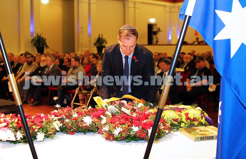 27-4-14. VAJEX. ANZAC Day memorial service at Glen Eira Town Hall. Photo: Peter Haskin