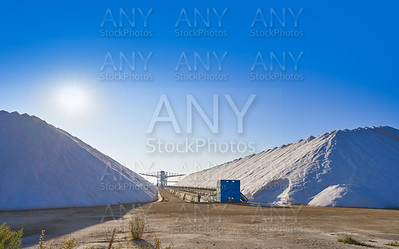 Santa Pola salinas saltworks mounts Spain