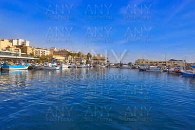 Santa Pola port and skyline in Alicante