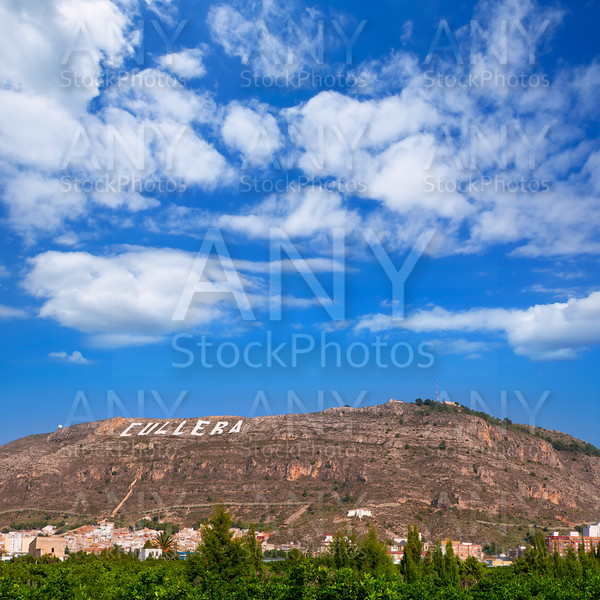 Cullera village mountain in Valencia in Mediterranean Spain