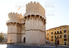 Torres de Serrano towers in Valencia