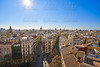 Valencia skyline old town aerial view