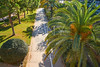Valencia Turia park gardens view at Spain