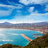 Javea in Alicante aerial view Valencian Community of spain