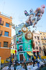 Fallas in Valencia fest figures that will burn on March 19