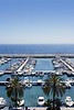 moraira marina seascape in Alicante Spain