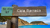 Cala Barraca beach sign in Xabia Javea