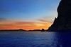 Cape San Antonio Javea Xabia sunset from sea