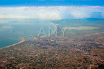 Valencia city and Albufera lake aerial Spain