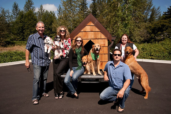 Doggiestock group promo portrait-Doug, Molly, Jody, Winnie, Angela, Jake & Elwood, Mark, Tango, Cathi-North Bend, WA 8-20-2010