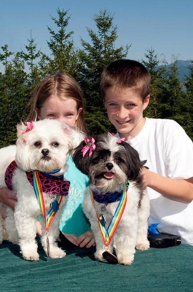 Molly & Winnie's Peanut Butter Lickin' medals